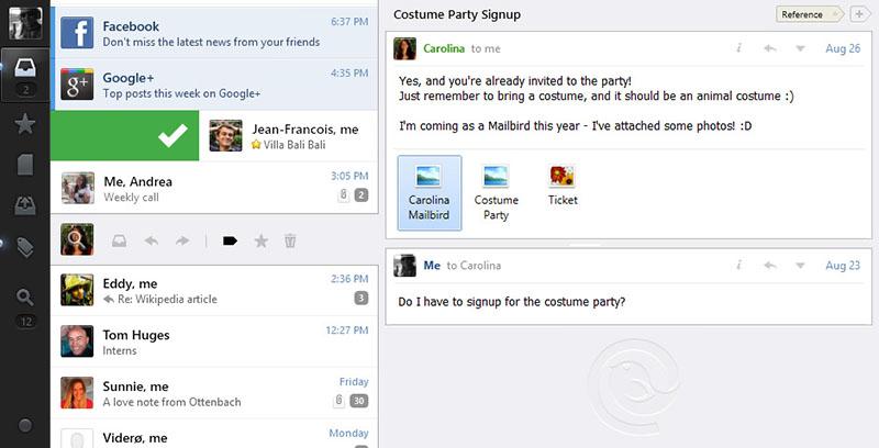 Mailbird 1.7.27.0 screenshot